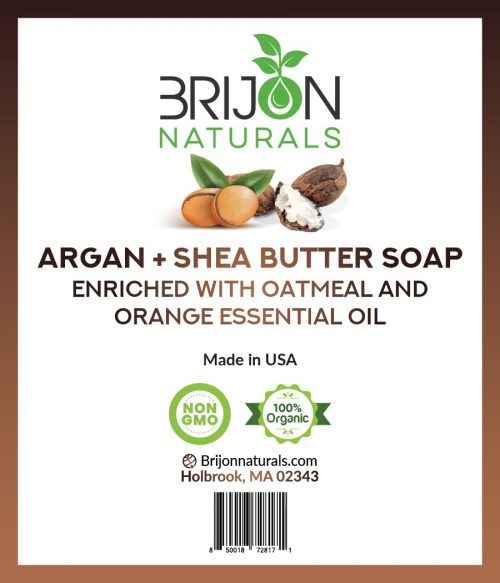 Brijon Naturals Argan Oil + Shea Butter Soap