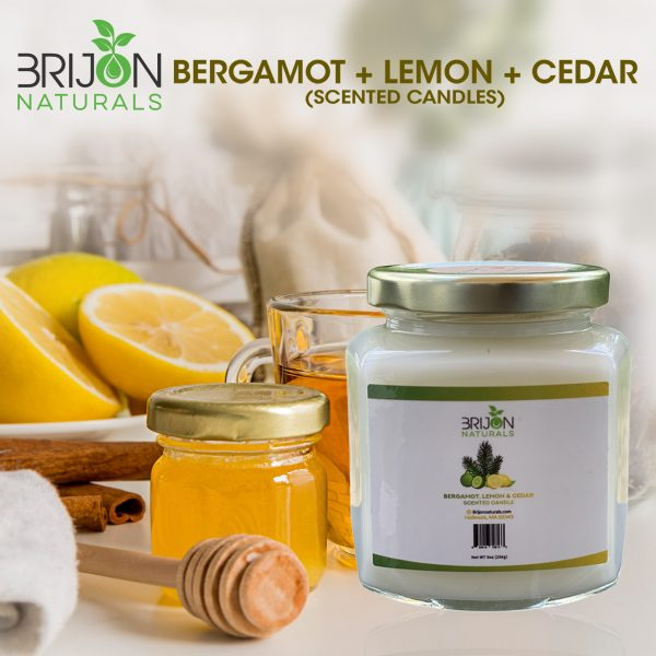 Bergamot + Lemon + Cedar candle