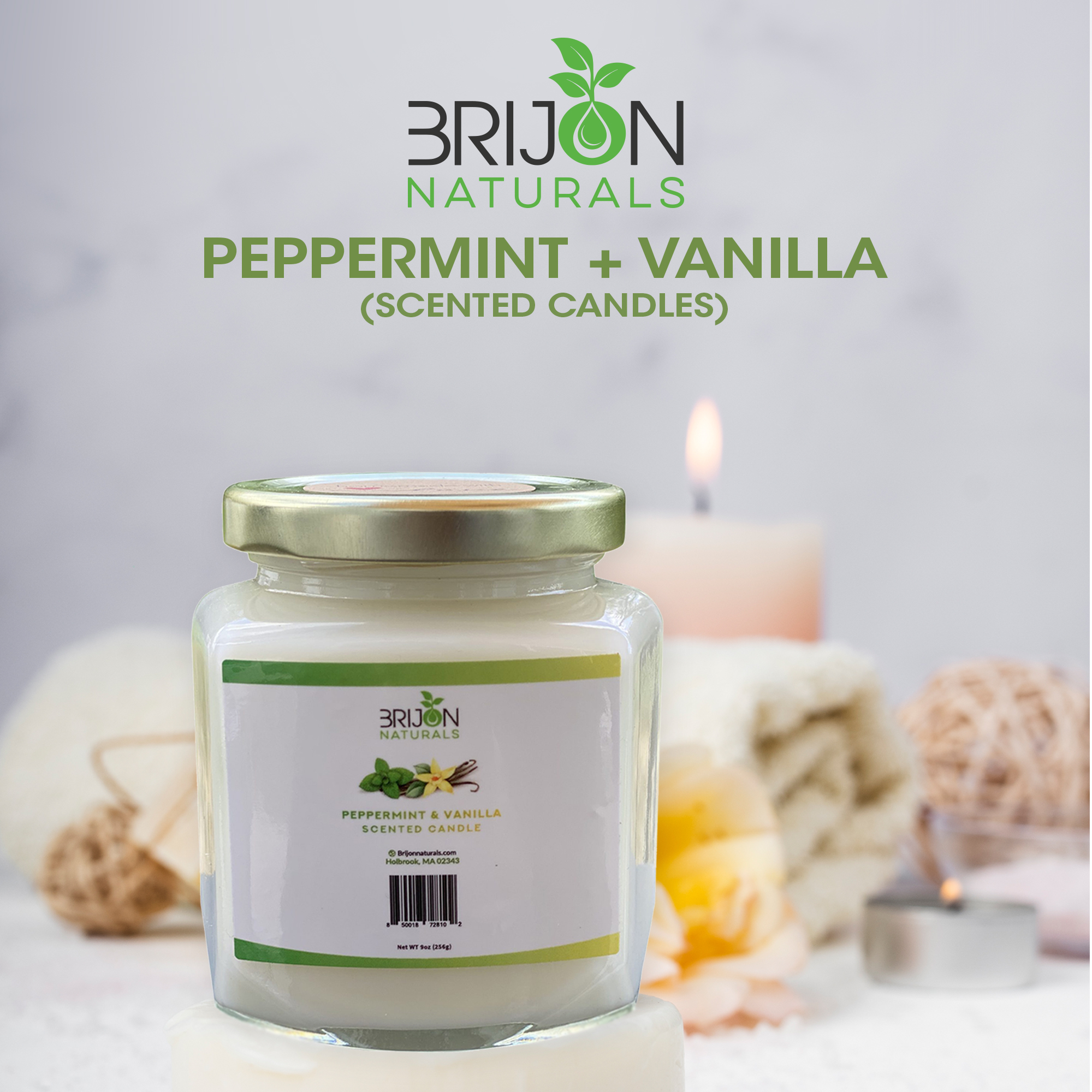 Buy Your Peppermint Vanilla Scented Candles Here Brijon Naturals
