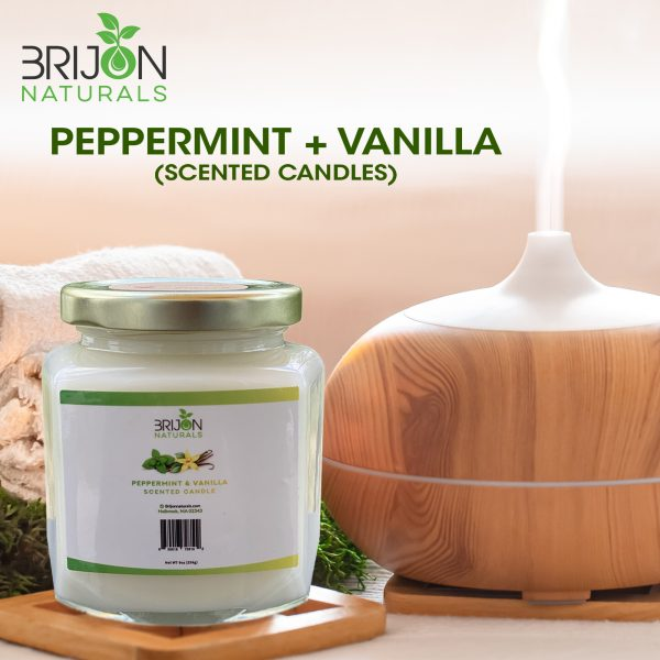 Peppermint + Vanilla - Scented Candles